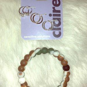 Claire's Earrings/Lokai Bracelet